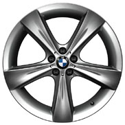 BMW Star Spoke 128 Mid-Night Chrome Wheel and Tire Set