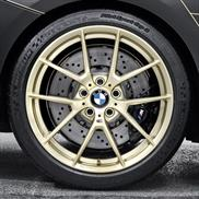 BMW M Performance Frozen Gold Style 763M Complete Wheel & Tire Set