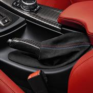 Carbon Fiber Parking Brake Handle with Alcantara Boot