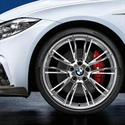 BMW 624M Wheel and Tire Set Polished