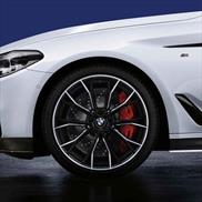BMW M Performance Style 669M Matte Black Bi Color Complete Summer Wheel & Tire Set
