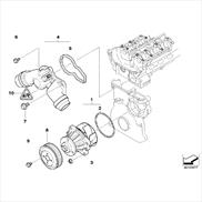 Thermostat housing with thermostat