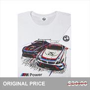 BMW M Power Z4 GTLM Short Sleeved T-shirt White