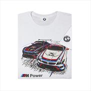 BMW M Power Z4 GTLM Short Sleeved T-shirt White