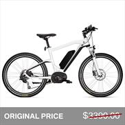BMW Cruise E-Bike Matte White Black Saddle