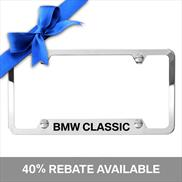 "BMW ""Classic"" Etched Frame, Silver"