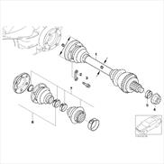Repair kit bellows, interior