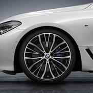 """BMW 21"""" Summer Complete Wheel Set Style 687 V Spoke - (Bi-Color)"""
