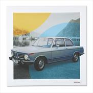 BMW Classic Canvas Art Print BMW 2002