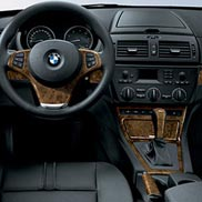BMW Poplar/Leather Selector Lever
