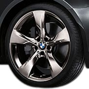 BMW Star Spoke 311 in Mid-Night Chrome Wheel and Tire Set