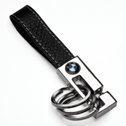 BMW 3-Ring Leather Key Fob