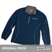 BMW Peter Millar Belfast 1/4 Zip Windblock Pullover, Men