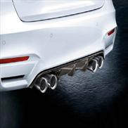 BMW M Performance Exhaust Tips in Carbon Fiber