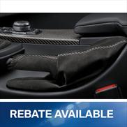 BMW M Performance Carbon Fiber Parking Brake Handle with Alcantara Boot