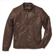 BMW X Leather Jacket Men Brown