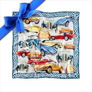 BMW Iconic Silk Scarf Steel Blue