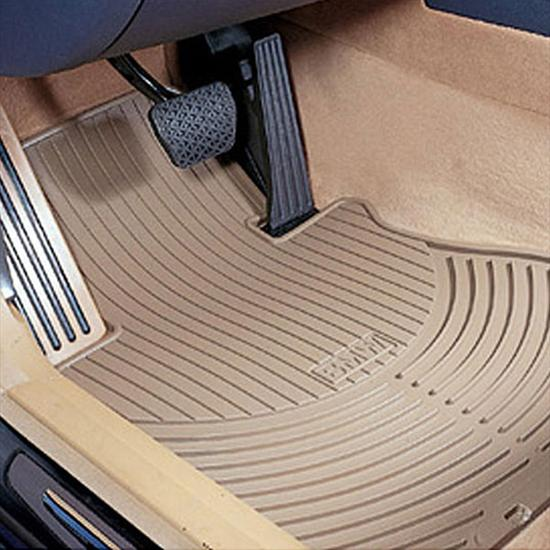 Bmw Z4 Floor Mats Beige: ShopBMWUSA.com: BMW ALL WEATHER RUBBER FLOOR MATS