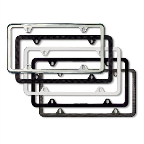 bmw slimline license plate frames - White License Plate Frame