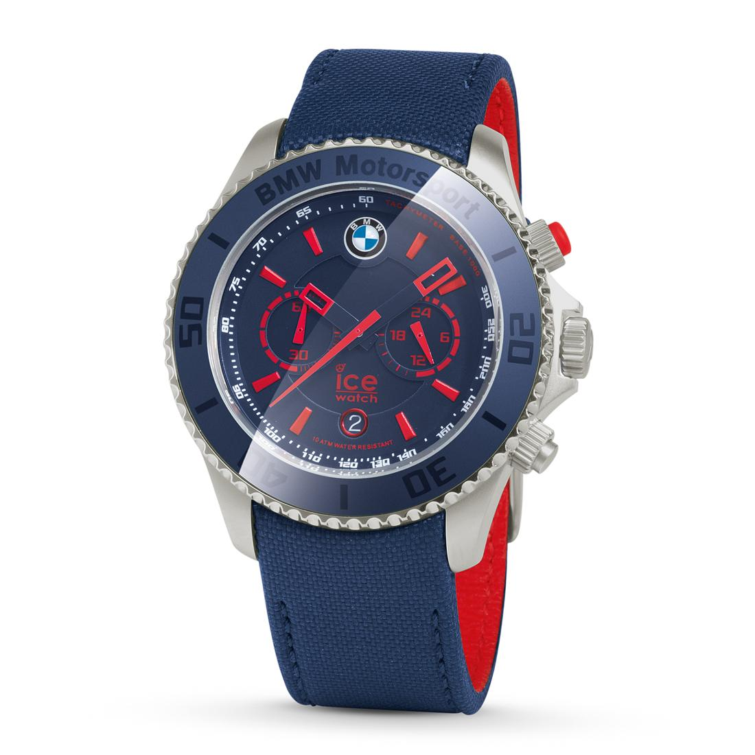 ShopBMWUSA.com  BMW MOTORSPORT CHRONOGRAPH STEEL ICE WATCH 415924734d