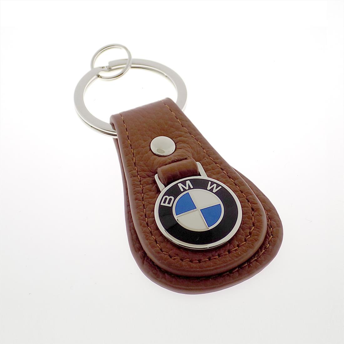 BMW Leather Teardrop Keychain