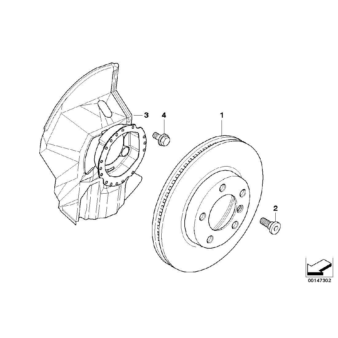Brake disc, ventilated, right