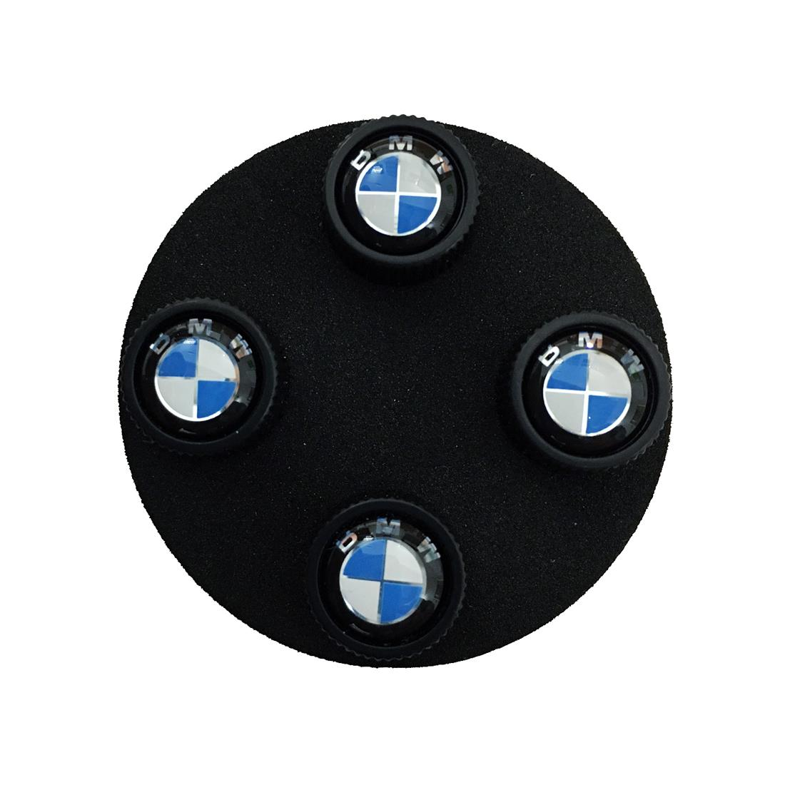 BMW Roundel Valve Stem Caps, Black