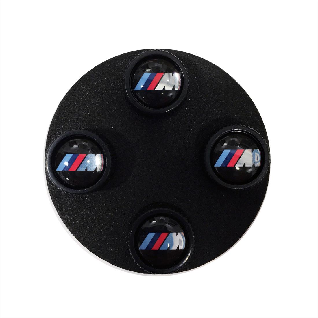 BMW M Logo Valve Stem Caps, Black