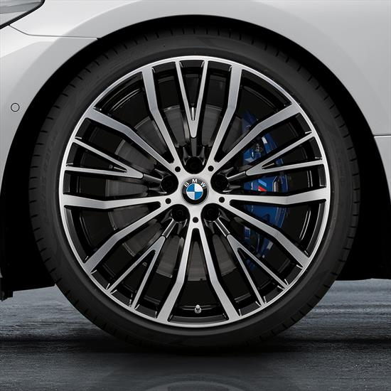 "BMW 21"" Summer Complete Wheel Set Style 687 V Spoke - (Bi-Color)"