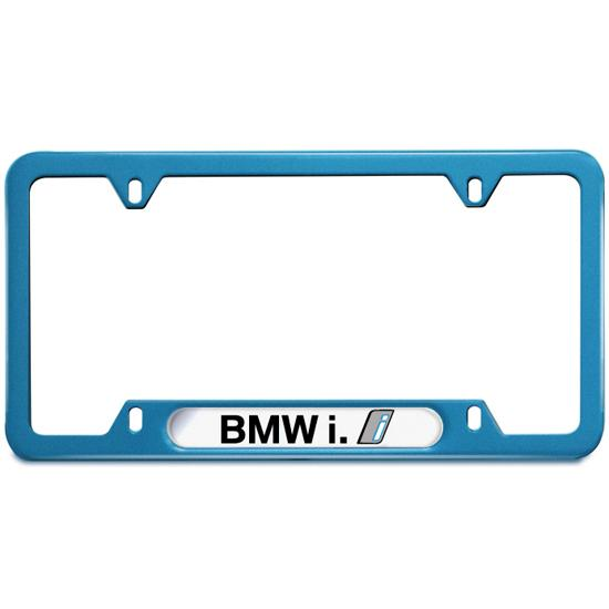 BMW i Blue Nameplate Frame
