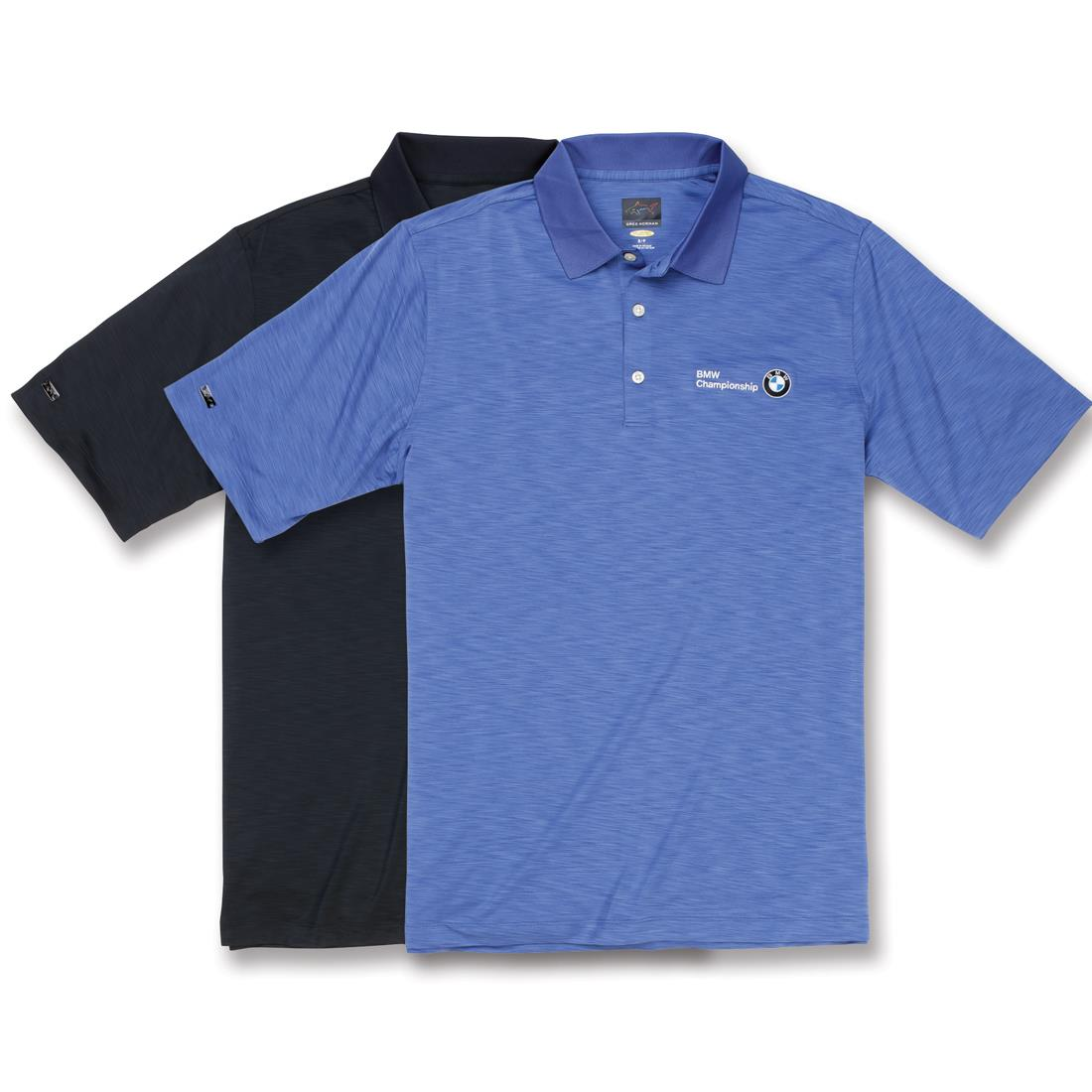 BMW Men's Greg Norman Play Dry® Heathered Polo