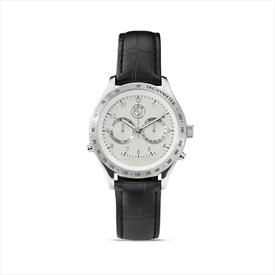 BMW Men's Tourneau White Face Watch with Black Strap