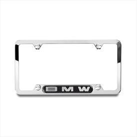 BMW Polished Frame with BMW Logo on Carbon Fiber