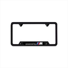 "BMW ""Powered by M"" Carbon Fiber License Plate Frame"