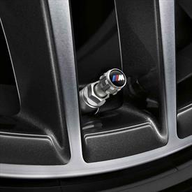 BMW Valve Stem Cap Set, M Logo