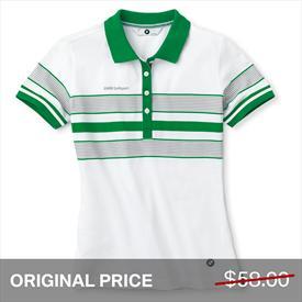BMW Golfsport Ladies' Striped Polo Shirt