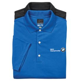 BMW Men's Greg Norman Play Dry Mesh Polo