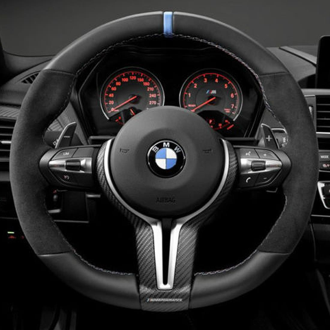 BMW Steering Wheel III Alcantara/ Leather With Carbon Fiber Cover