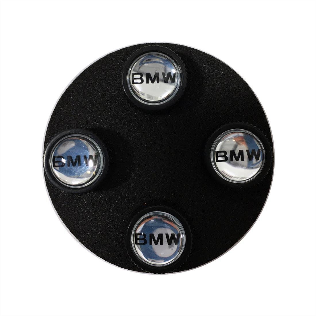 BMW Lettering Valve Stem Caps, Black