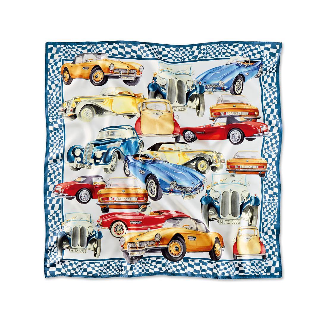 BMW Iconic Silk Scarf Steel Blue