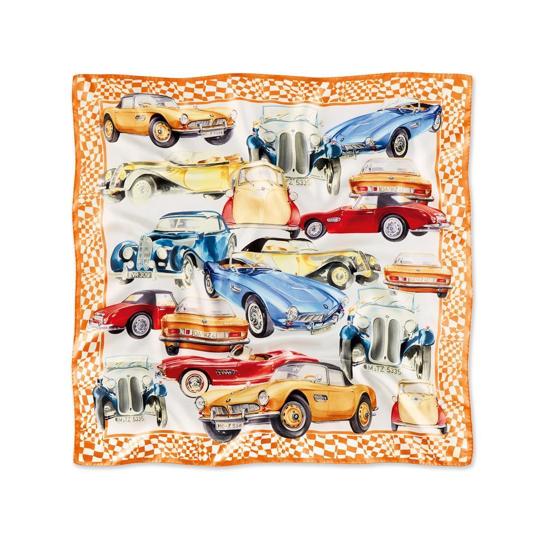 BMW Iconic Silk Scarf Orange