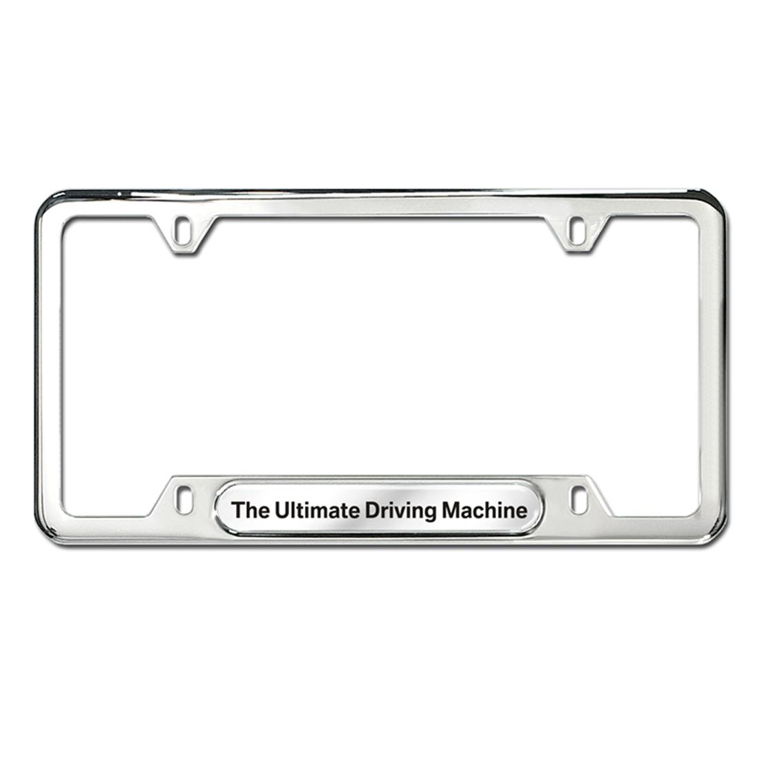 """BMW """"The Ultimate Driving Machine"""" Plate Frame, Silver"""