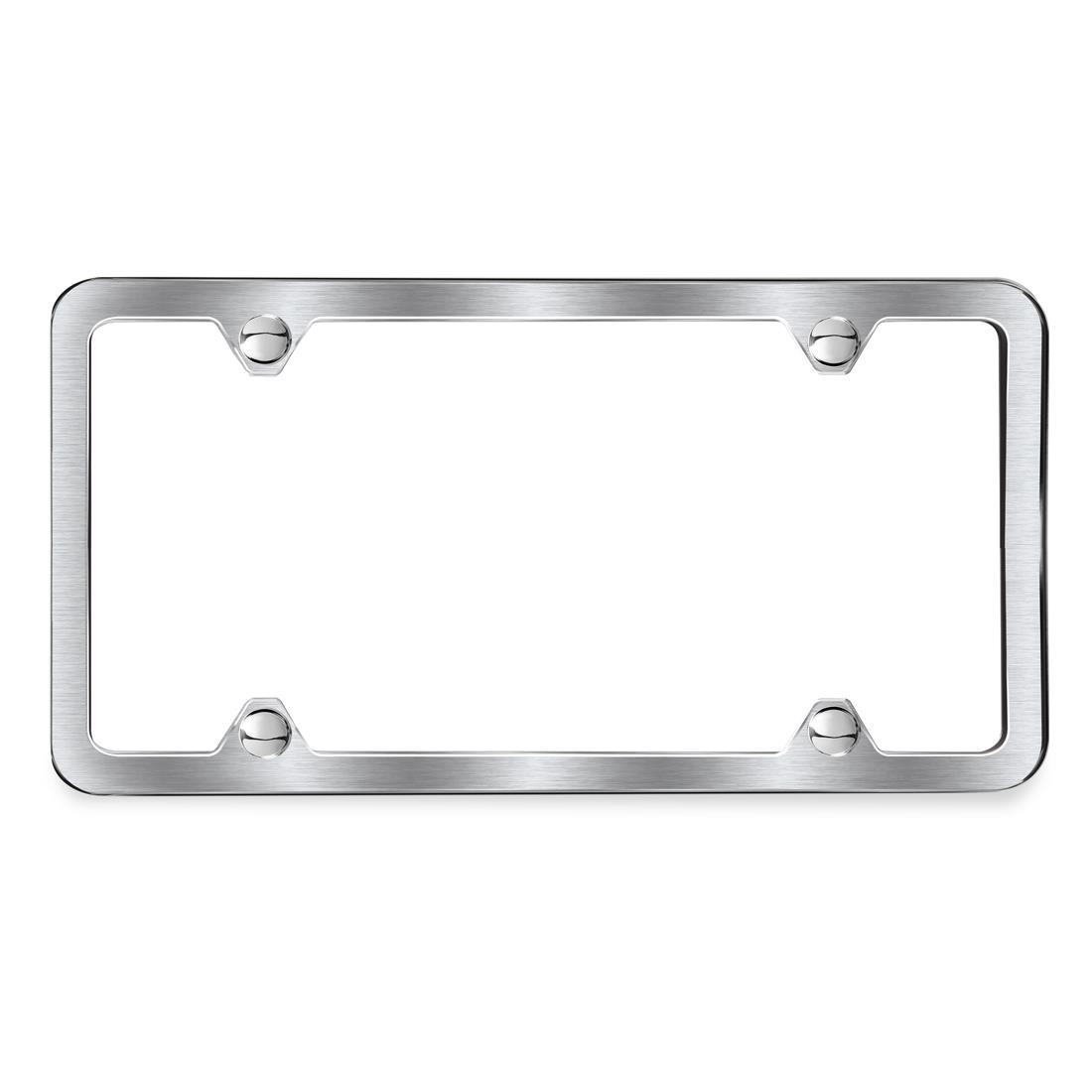 BMW Brushed Slimline Plate Frame, Silver