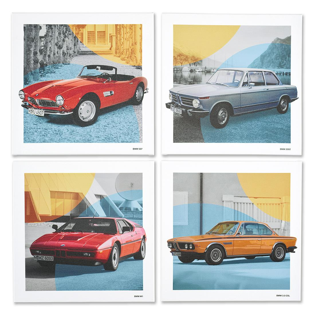 BMW Classic Canvas Art Print Set