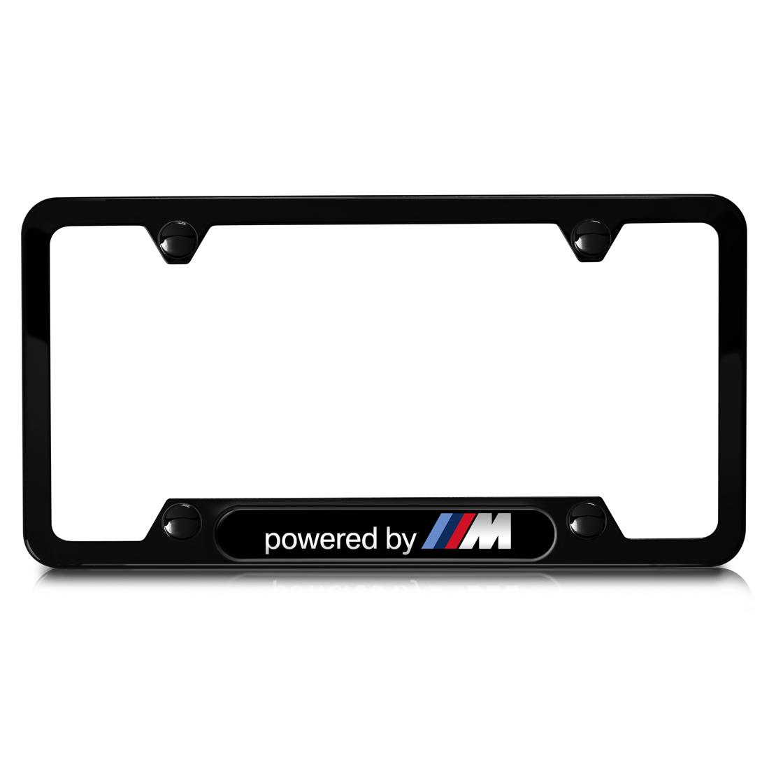 BMW Powered by M Stainless Steel License Plate Frame