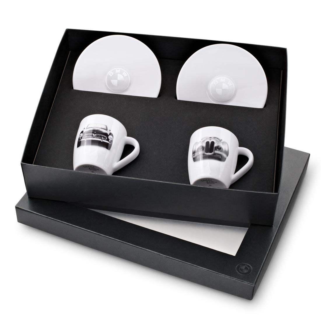 bmw classic espresso cup set. Black Bedroom Furniture Sets. Home Design Ideas