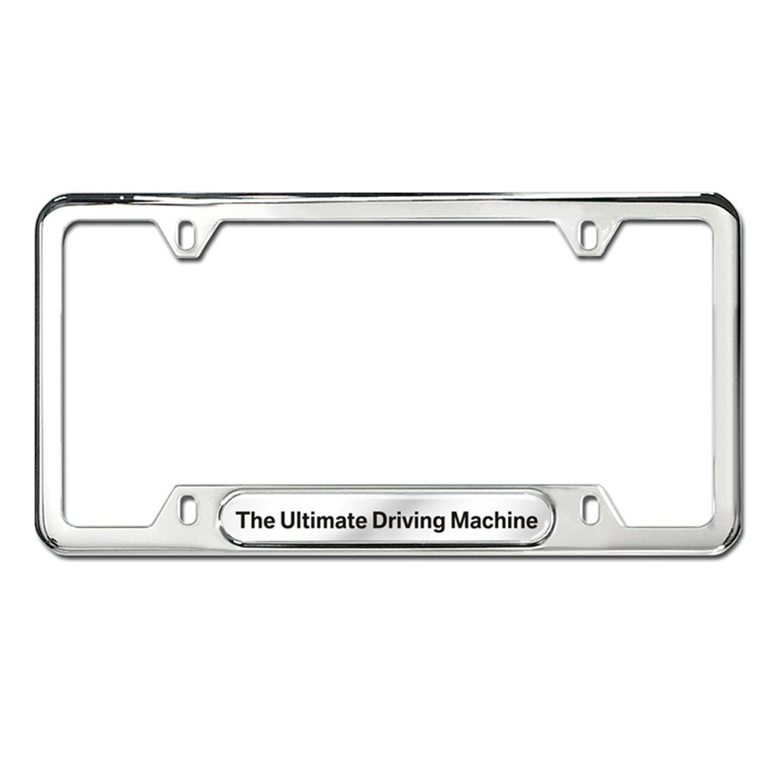 bmw the ultimate driving machine plate frame silver. Black Bedroom Furniture Sets. Home Design Ideas